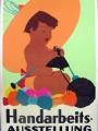 Handarbeitsausstellung Originalplakat Vintageposter ca. 1930