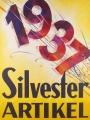 7213-3 Originalplakat-1937, Vintage Poster Affiche Ancienne, Silvester Artikel-Vintageposter-