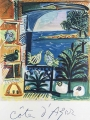 Originalplakat, Vintageposter  nach Pablo Picasso - Côte d'Azur. 1962