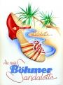 Originalplakat Vintageposter Böhmer Schuhe Sandalette Entwurf: Lohmann