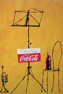 Herbert Leupin, Coca-Cola, Deutschland, 1953